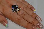 Кольцо из серебра с золотыми вставками, фото 6