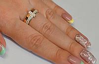 Кольцо из серебра с золотыми пластинами, фото 1