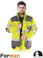 Куртка утепленная сигнальная желтая рабочая FORMEN Польша (спецодежда ая) LH-FMNWX-J YSB