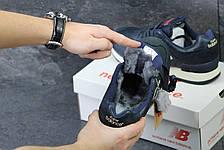 Мужские зимние кроссовки New Balance 670 кожаные,темно синие, фото 3