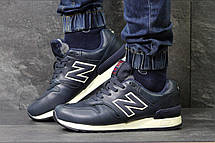 Мужские зимние кроссовки New Balance 670 кожаные,темно синие, фото 2