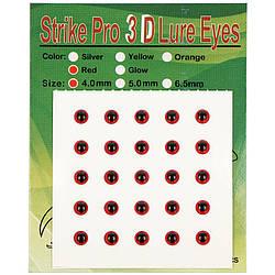 Глаза Strike Pro 3D для воблера 4мм красные(25шт)
