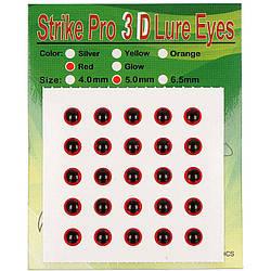 Глаза Strike Pro 3D для воблера 5мм красные(25шт)