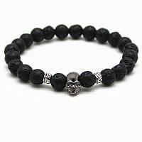 Мужской каменный браслет mod.Skull Vulcan, фото 1