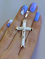 Серебряный мужской крест, фото 1