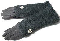 Перчатки и митенки модные 2 в 1 серые размер 8,5