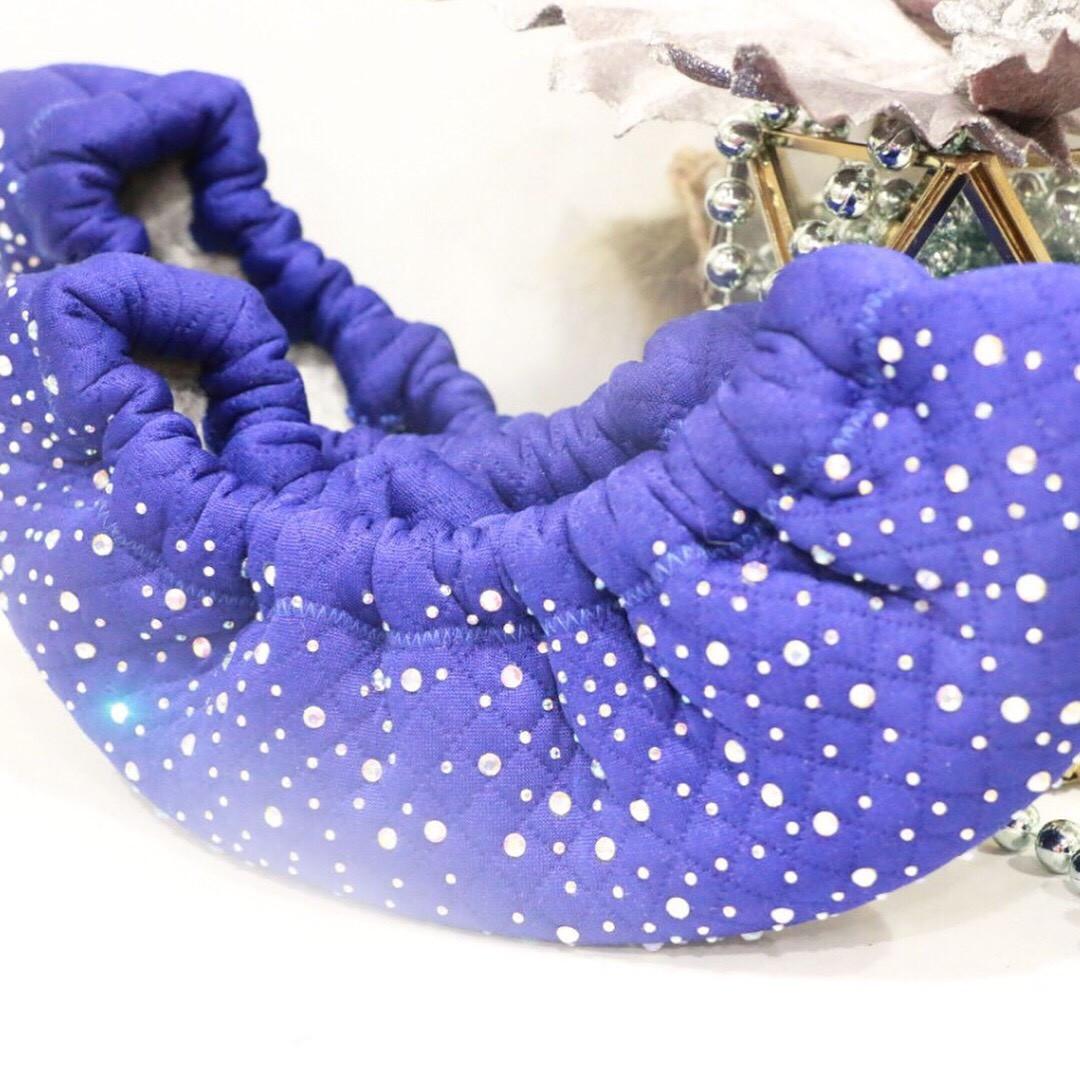 Сушки на лезвие коньков (голубые со стразами)
