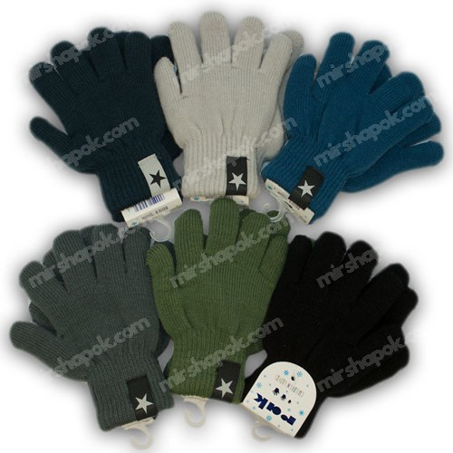 ОПТ Перчатки утепленные, р. 13 (2-3 года), производитель Польша, R011DB-13 (6шт/набор)
