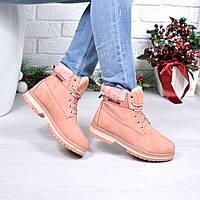 Ботинки женские TimTim розовые 3905 41 размер, зимняя обувь