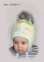Детская зимняя шапочка для мальчика Няша (3D принт)