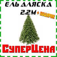 Искусственная елка 2,2 м Аляска + ПОДАРОК елка 50 см, новогодняя елка искусственная