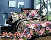 Комплект постельного белья полиэстер 3D ТМ KRIS-POL (Украина) полуторный 49851964