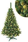 Искусственная новогодняя елка сосна 2,2 м с золотыми шишками рождественская, фото 3