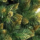 Искусственная новогодняя елка сосна 2,2 м с золотыми шишками рождественская, фото 4