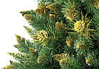 Искусственная новогодняя елка сосна 2,2 м с золотыми шишками рождественская, фото 5