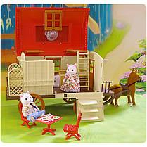 Повозка-дом Happy Family 012-05 Животные флоксовые (аналог Sylvanian Families), фото 2