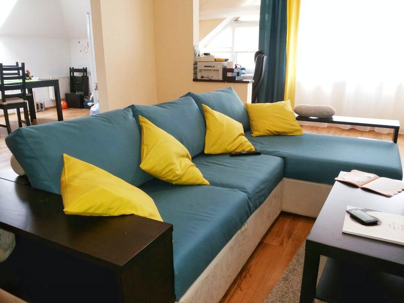 Шторы в Ирпене, римские шторы, плиссе, тканевые ролеты. Однокомнатная квартира.