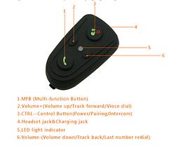 Bluetooth гарнитура на мото шлем, фото 2