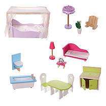 Ігровий ляльковий будиночок для барбі Ecotoys California 4107fm + тераса, 124см!, фото 2