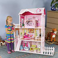 Игровой кукольный домик для барби California 4107fm + тераса, 124см!