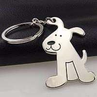 Брелок для ключей Собачка металлический