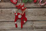 Новогодняя игрушка олень с снежинками, фото 2