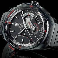 Часы Tag Heuer Grand Carrera calibre 36 black, механические, мужские, ААА