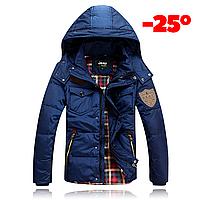 Мужская зимняя куртка пуховик JEEP в наличии! (JP_02), синий. РАЗМЕР 44,46