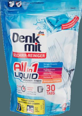 Капсулы для посудомоечных машин Denkmit All-in-1 Liquid, 30 шт.