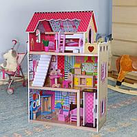 Игровой кукольный домик для барби 4120 Roseberry + лифт + 2 куклы