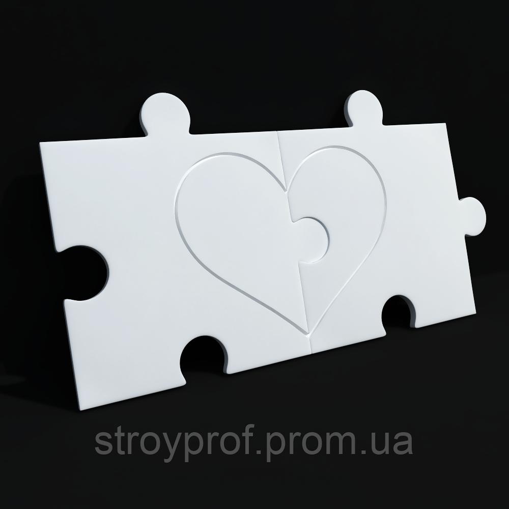3D панели «Сердце»