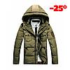 Мужская зимняя куртка пуховик JEEP в наличии! (JP_04), хаки. РАЗМЕР 44-50