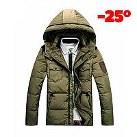 Мужская зимняя куртка пуховик JEEP в наличии! (JP_04), хаки. РАЗМЕР 48-50