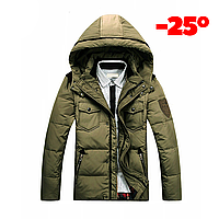 Мужская зимняя куртка пуховик JEEP в наличии! (JP_04), хаки. РАЗМЕР 44,46