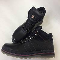 Мужские зимние ботинки из кожи в спортивном стиле