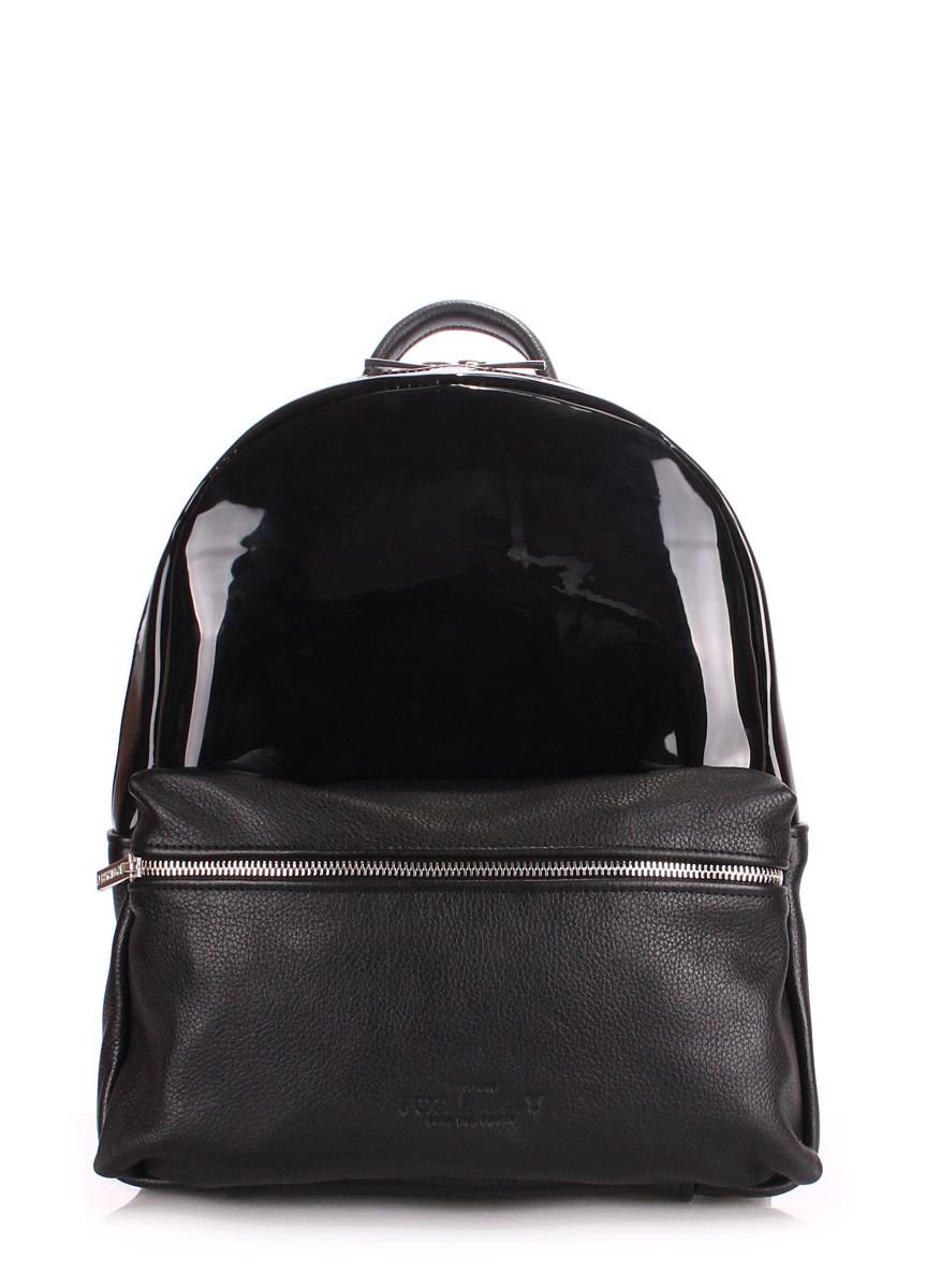 Рюкзак женский кожаный POOLPARTY Mini mini-bckpck-transparent-black