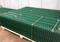 Сварные секции ограждения (оцинкованные, полимер RAL6005) 1,05/2,5м Ø3,0/4,0мм 200х50мм
