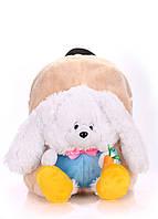 Детский рюкзак POOLPARTY с зайцем kiddy-backpack-rabbit-white