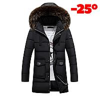 Мужская зимняя куртка ROUSEN в наличии! Размер 46-50, черный