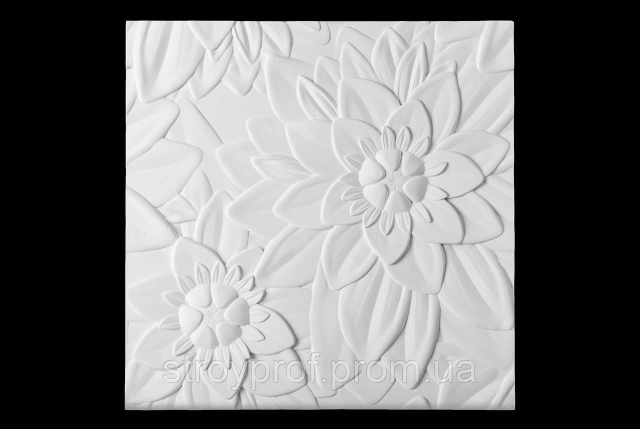 3D панели «Verdi» Бетон, Флористика, Плитка