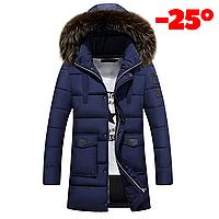 Мужская зимняя куртка ROUSEN в наличии! Размер 46-50, синий