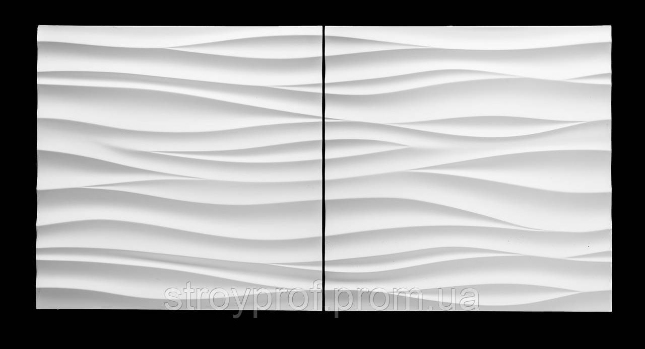 3D панели «Горизонт» Бетон