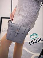 Женская маленькая Cерая сумка