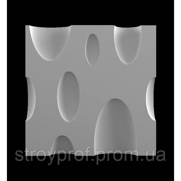 3D панели для стен «Bubbles» Бетон