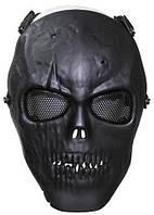 Маска для страйкбола MFH Череп чёрный 10603A, фото 1