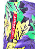 Дутая сумка POOLPARTY с принтом pp4-yellow-violet-leaves, фото 3