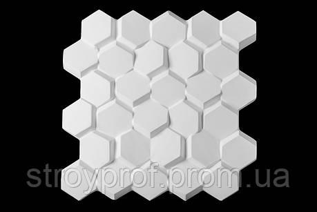 3D панели «Улей» Бетон, фото 2