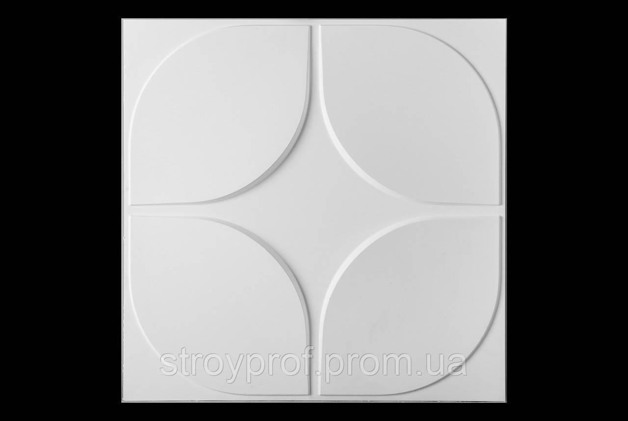 3D панели «Скаты-круг» Бетон