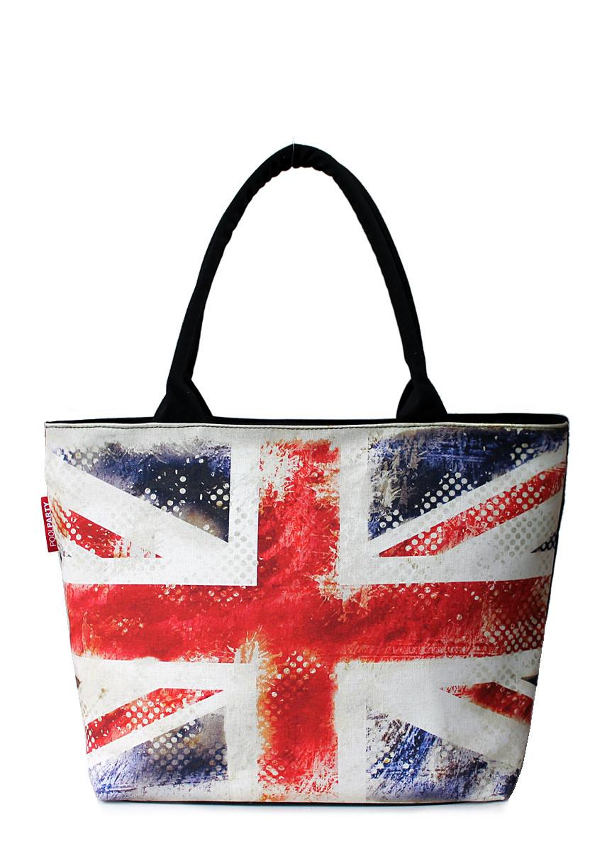 Коттоновая сумка POOLPARTY с трендовым принтом pool-journey-uk