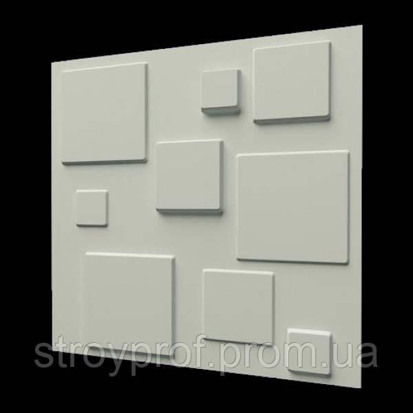 3D панели «Плитка» Бетон